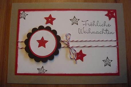 karte weihnachten basteln frohe weihnachten basteln karten teebeutel weihnachten idee rot ideen. Black Bedroom Furniture Sets. Home Design Ideas